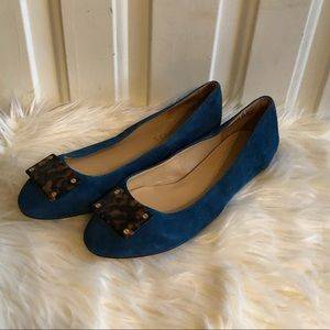 Talbots Blue Suede Flats